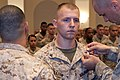 U. S. Marine Cpl. Michael Wiggleton, a water support technician, is meritoriously promoted to corporal during a promotion ceremony at Marine Barracks Washington D.C. Sept 120906-M-OU625-001.jpg