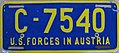 US-Forces-in-Austria USFA Welfare Organizations license plate C-7540.jpg