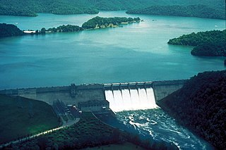 Reservoir situated on the Kentucky/Tennessee border