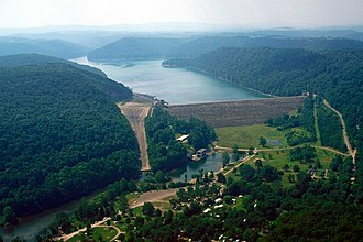 Youghiogheny River - Image: USACE Youghiogheny Lake and Dam