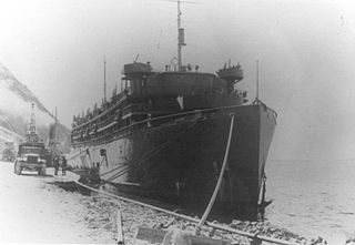 SS <i>Dorchester</i> War Shipping Administration troop ship sunk in 1943 during the naval battles of the Second World War