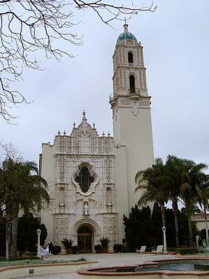 University of San Diego - Immaculata Parish Church at USD showing the architectural style of the campus