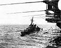 USS English (DD-696) refueling from USS Independence (CVA-62) in October 1962.jpg