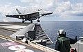 USS George H.W. Bush conducts flight operations. (33052432285).jpg