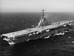 USS Lake Champlain (CVS-39) at sea in 1960.jpg