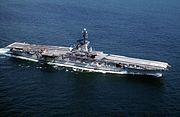 USS Lexington (CVS-16) underway in the 1960s