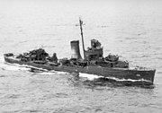 USS Maury (DD-401) underway in 1943