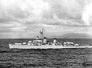 USS Owen (DD-536) - USS Owen (DD-536) underway in 1957