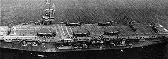 Piasecki HRP Rescuer - Image: USS Palau (CVE 122) with HR Ps NAN8 51