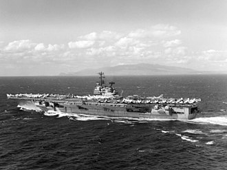 USS Ranger (CV-61) - Ranger off Hawaii in November 1967, having departed for her 1967-68 WESTPAC cruise.