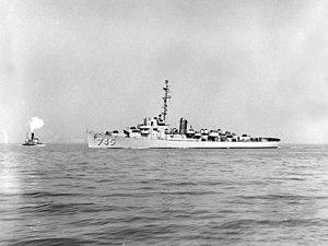USS Snyder off New York City, April 1951