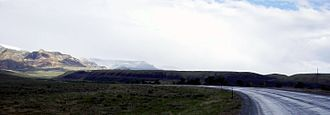 U.S. Route 14 - U.S. 14 in Wyoming facing the Big Horn Mountains from the west.
