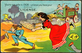 US Bachelor's day postcard - 1908 'marriage license to hunt'.png