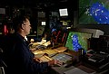 US Navy 030316-N-3783H-321 Senior Chief Tom Leonard, the senior Operations Specialist aboard the guided missile cruiser USS Shiloh (CG 67).jpg