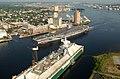 US Navy 030820-N-9851B-016 Tug boats guide USS Harry S. Truman (CVN 75) up the Elizabeth River, past Portsmouth landmarks.jpg