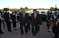US Navy 031016-F-2828D-171 Deputy Secretary of Defense Paul Wolfowitz (right) escorts Afghanistan Vice President Hedayat Amin Arsala, through an honor cordon and into the Pentagon.jpg