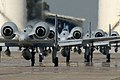 US Navy 040415-N-5821W-001 Four Air Force A-10 Thunderbolt attack aircraft line up for takeoff aboard NAS Sigonella.jpg