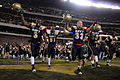 US Navy 091212-N-5319A-586 U.S. Navy Midshipmen celebrate their victory over the U.S. Military Academy after the 110th Army-Navy college football game at Lincoln Financial Field in Philadelphia.jpg