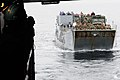US Navy 101215-N-3659B-058 A landing craft utility transports 31st Marine USS Comstock (LSD 45).approaches the well deck of Expeditionary Unit (31s.jpg