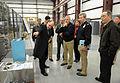US Navy 111202-N-PO203-025 Charles Garnett, left, manager of the Naval Surface Warfare Center Dahlgren Division Electromagnetic Railgun project bri.jpg