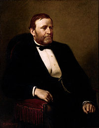 colored painting of President Ulysses S. Grant