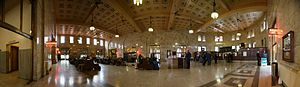 Portland Union Station - A panoramic view of the interior of Union Station