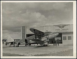 Union Airways' airliner Karoro at Milson.jpg