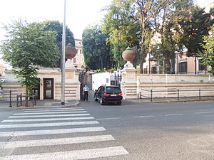 United States Mission to the UN Agencies in Rome - Entrance to the United States Mission to the UN Agencies in Rome