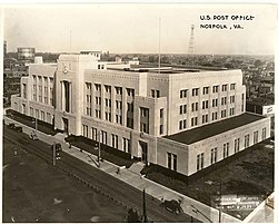 United States Post Office and Courthouse (1934), Norfolk city, Virginia.jpg
