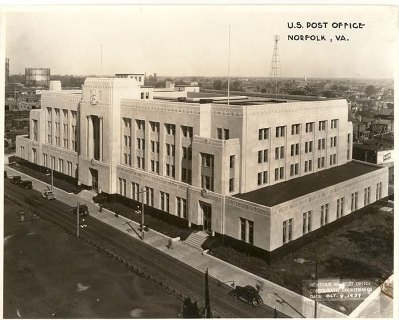 United States Post Office and Courthouse (1934), Norfolk city, Virginia