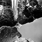 Unnamed glacier, terminus of mountain glacier across lake from Barrier Glacier, August 25, 1964 (GLACIERS 6474).jpg
