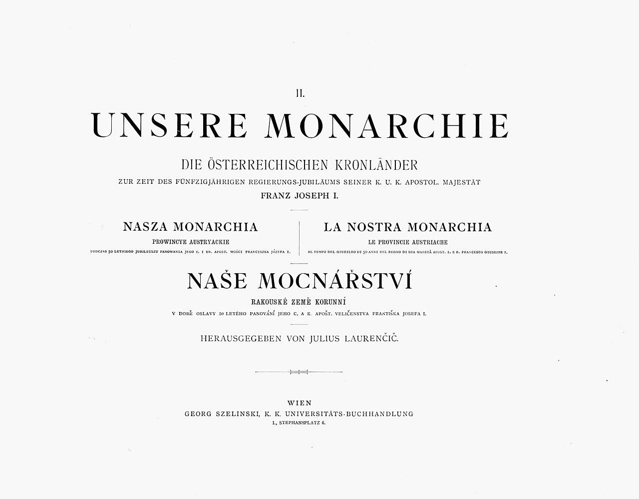 Fileunsere Monarchie Titelblatt 1898g Wikimedia Commons