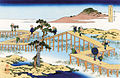 Unusual Views of Celebrated Bridges in the Provinces-Mikawa No Yatsuhashi No Kozu.jpg