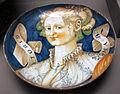 Urbino o dintorni, coppa amatoria con bella girolama, 1530-40 ca..JPG