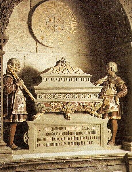 Archivo:Urna sepulcral que contiene las entrañas de Alfonso X el Sabio, rey de Castilla y León. Catedral de Murcia.jpg
