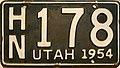 Utah 1954 license plate.jpg