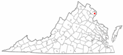 Location of Springfield, Virginia