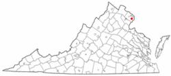 Location of Springfield, Virginia