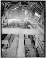 VIEW LOOKING EAST, GENERAL INTERIOR - Emerson Sawmill, Scroon River, River Street, Warrensburg, Warren County, NY HAER NY,57-WARBU,1-8.tif