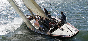 English: Våsgspel an 8mR yacht from Finland sa...