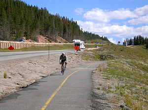 Vail Pass - This is a paved, dedicated bike route from Vail to Copper Mt.