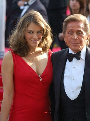 Elizabeth Hurley and Valentino Garavani at the...