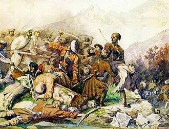 Battle of the Valerik River - Battle of the River Valerik by Mikhail Lermontov