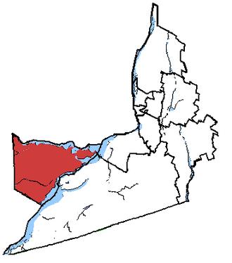 Vaudreuil—Soulanges - Vaudreuil-Soulanges in relation to other Montérégie federal electoral districts.