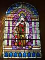 Vaux-Villaine (Ardennes) Église Saint-Remi, vitrail Sainte Thérèse de Lisieux.JPG