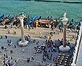 Venezia Blick vom Campanile der Basilica di San Marco auf die Piazetta San Marco 2.jpg