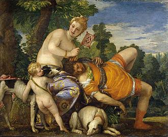 Venus and Adonis (Veronese, Madrid) - Image: Venus y Adonis (Veronese)