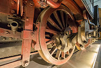 Verkehrsmuseum Dresden Güterzug - Tenderlok Muldenthal Detail Treibradsatz XII.jpg