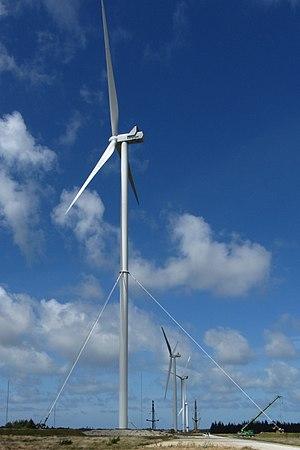 Østerild Wind Turbine Test Field - Image: Vestas V126 3.45 MW guyed tower at Østerild, 2017