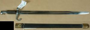 M1870 Italian Vetterli - Image: Vetterli Vitali bayonet and scabbard